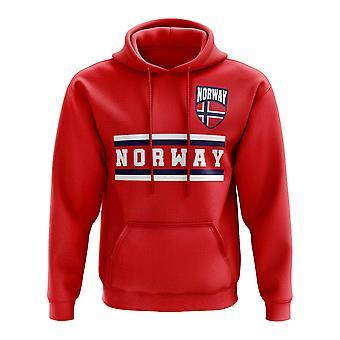 Norvegia Core calcio paese Hoody (rosso)