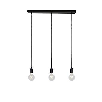 Lucide Fix Multiple Modern Silicone Black Pendant Light