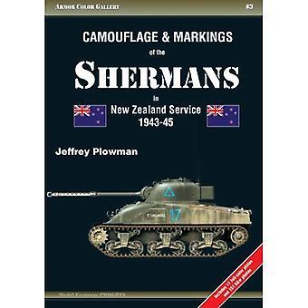 Camouflage & merktekens van de Shermans in Nieuw-Zeeland dienst 1943-45 (Armor kleur Gallery)