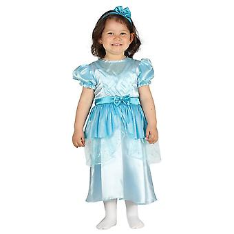 Peuters Blue Princess Fancy Dress kostuum