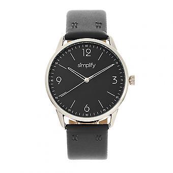 Vereenvoudigen de 6300 lederen-Band Watch - zwart