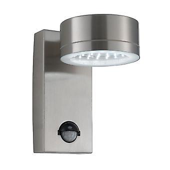 Edelstahl 36 LED Outdoor Wandleuchte mit Bewegungs-Sensor - Scheinwerfer 9550SS