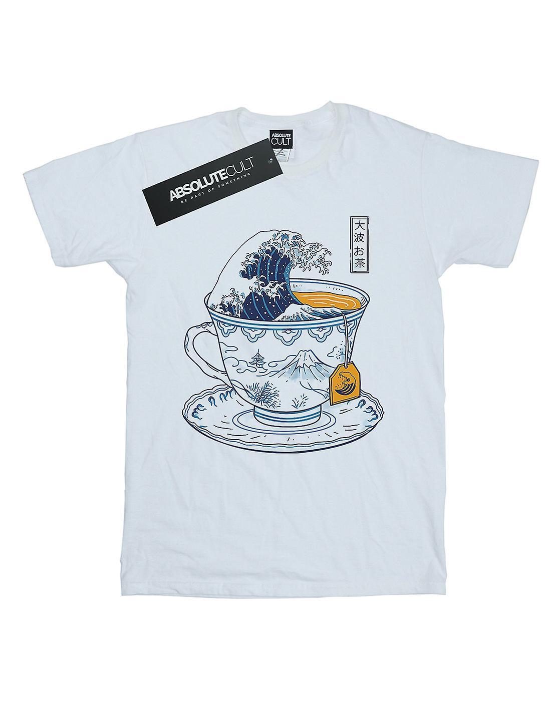 Vincent Trinidad Women's The Great Kanagawa Tea Boyfriend Fit T-Shirt