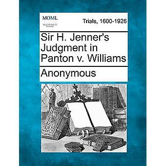 匿名でウィリアムズ対パントンのサー H. Jenners 判決