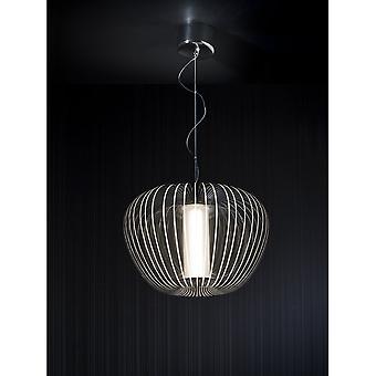 Schuller Modern Chrome Open LED Oval Ceiling Pendant