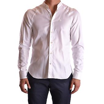 John Galliano Ezbc164044 Men's White Cotton Shirt