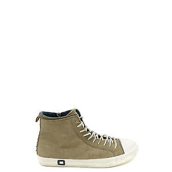 D.a.t.e. Ezbc177010 Men's Green Leather Hi Top Sneakers