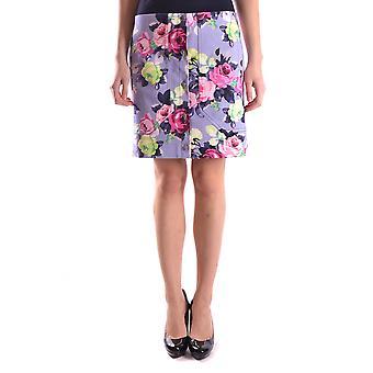Carven Ezbc234003 Women's Lilac Cotton Skirt