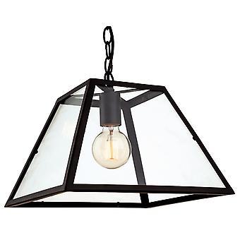 Firstlight-1 lys loft vedhæng sort, klart glas-3439BK