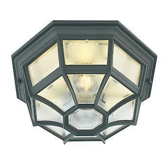Latina utendørs vegg / tak lanterne - Elstead belysning La8 svart