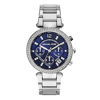 Michael Kors Mk6117 Women's Parker Steel Blue Dial Date Watch