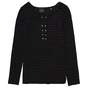 Maison Scotch Combo C Long Sleeve Grandad Top