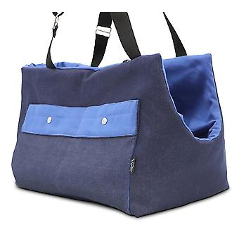 Oh! Denim Dog carrier with blue cotton lining