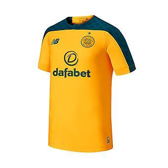 New Balance Celtic FC 2019/20 Miesten lyhythihainen pois jalka pallo paita keltainen/vihreä