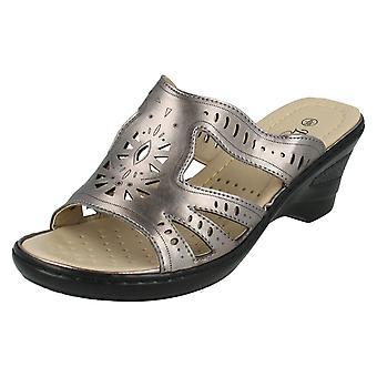 Ladies Summer Wedge Mule Sandals F3103S