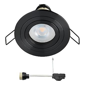 Coblux LED Spotlight recessed | Preto | Branco morno | 5 watts | dimmable | Inclinação