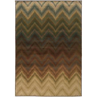 Hudson 3458a brown/multi geometric area rug (7'8