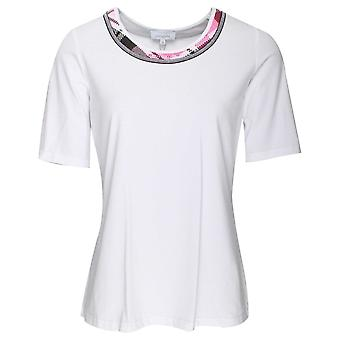 Just White White Round Neck Short Sleeve T-shirt