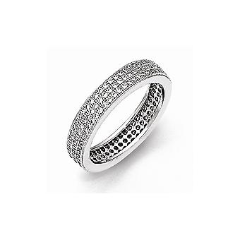 925 Plata esterlina y Zirconia cz cúbica de diamantes brillantes brasas anillo regalos de joyería para las mujeres - Tamaño del anillo: 6