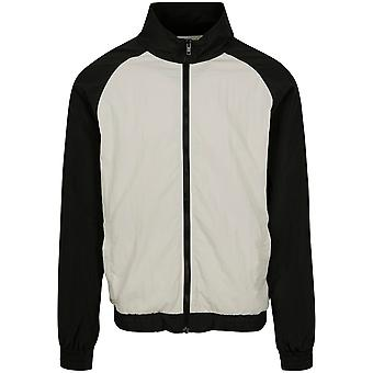 Urban Classics Men's Training Jacket Crinkle Contrast Raglan