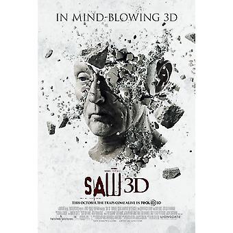SAW 3D affisch dubbelsidig Advance (stil B) (2010) original Cinema affisch