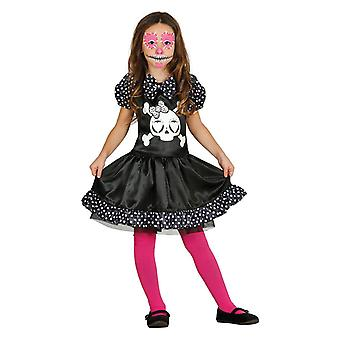 Meisjes skelet Ghostgirl Halloween fancy dress kostuum