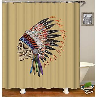Indian Chief Skull Shower Curtain