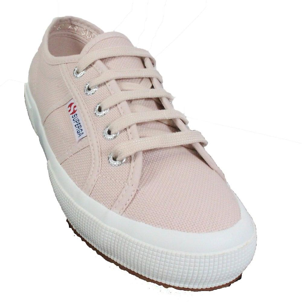 Superga Cotu Classic Pink Skin Canvas Womens Lace Up Chaussures