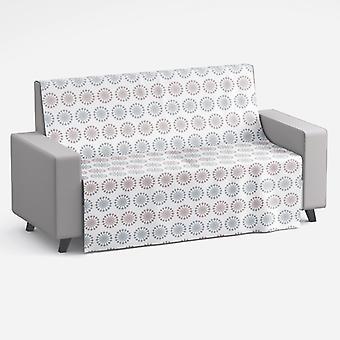 Meesoz sohva huopa-aurinkoinen asettelu Earthtones