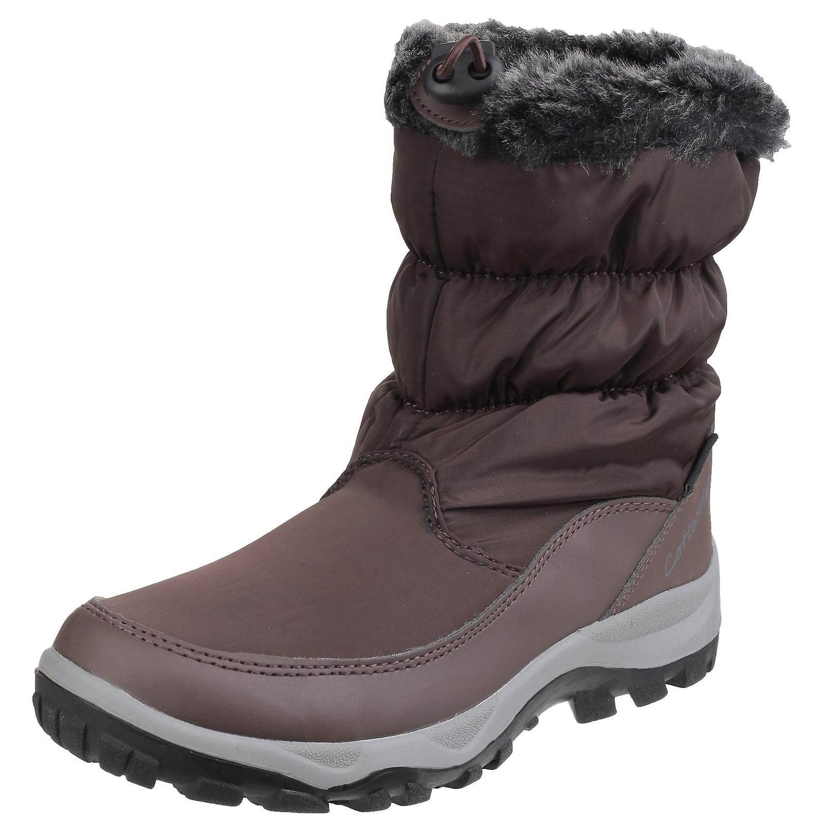 Cotswold Womens/Ladies Frost Pull On Fur Trim Winter Boots zyzkO