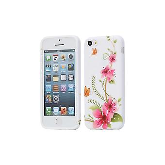 Shell For iPhone 5c Silicone Floral Pattern