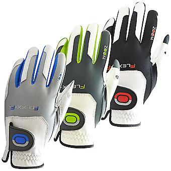 Zoom Mens Tour Flexx-Fit Tech Leather Golf Gloves LH One Size Fits All