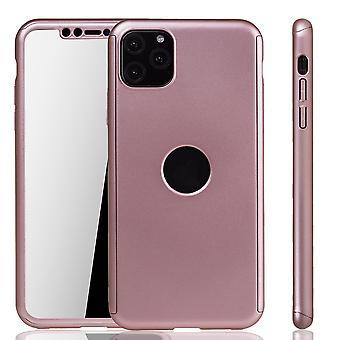 Apple iPhone 11 Pro Max case fall telefon täcka skyddande påse stötfångare Fullcover tank Protection glass Rose