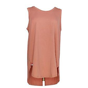 AnyBody Women's Top Cozy Knit Side Split Tank Pink A306950