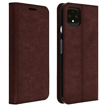 Business leather book case, stand case for Google Pixel 4 XL - Brown