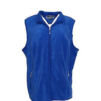Karen Scott Women's Plus Sweater Zeroproof Fleece Vest Ultra Blue