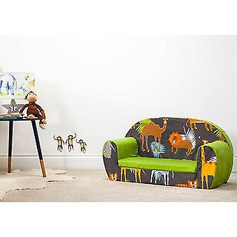 Africa Kid's Soft Foam Peuters Sofa 2 Seater Seat Nursery Baby Settee Play