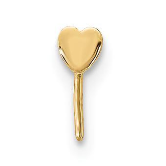 2,5 mm 14k kjærlighet hjerte anheng halskjede nese stud smykker gaver til kvinner - .1 gram