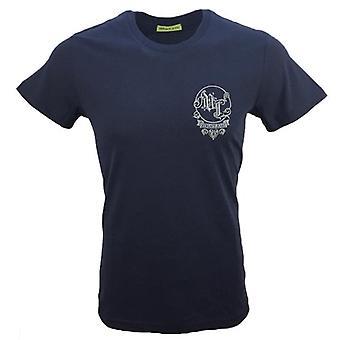 فيرساتشي جينز الصدر شعار تي شيرت الأزرق الأزرق B3GSB76P