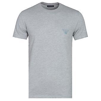 Emporio Armani Logo Back Print Grey Marl T-Shirt