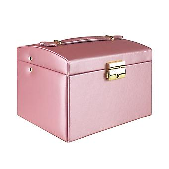 Jewelry box, Artificial Leather - Pink