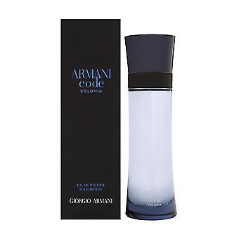 Armani código colonia por giorgio armani para homens 4.2 oz eau de spray de toilette