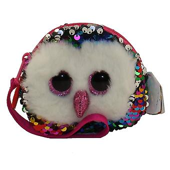 TY Flippable Sequins Owen Owl Wristlet