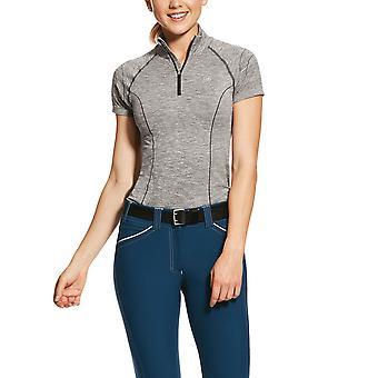 Ariat Womens Odyssey fără sudură 1 /4 Zip short sleeved Baselayer - Plum Grey