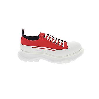 Alexander Mcqueen 604257w4l516487 Män's Red Cotton Sneakers