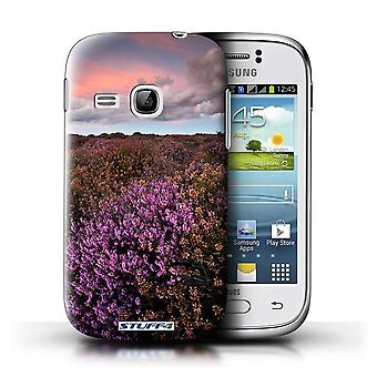 STUFF4 Case/Cover for Samsung Galaxy Young/Orange Sky/British Countryside