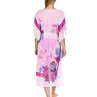 Lisca 49428-01 Mulheres's Egina White Floral Kaftan Beach Dress