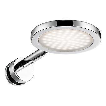 WOFI Suri Bathroom Led Round Wall Light In Polished Chrome Finish 4622.01.01.0044