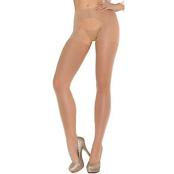 Plus Size Sheer Crotchless Pantyhose Hosiery Nylons- Fits size 14-18