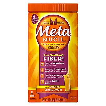 Metamucil multihealth fiber powder, orange, 72 doses, 30.4 oz